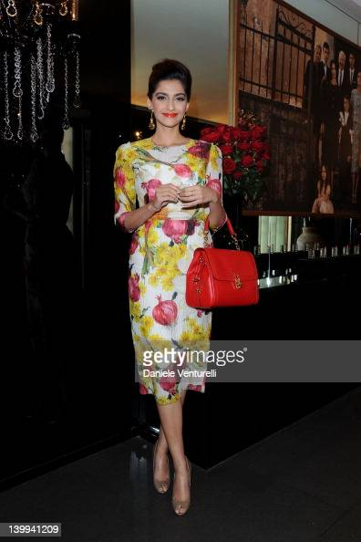 Actress Sonam Kapoor attends Dolce Gabbana VIP Room at the Metropol during Milan Womenswear Fashion Week on February 26 2012 in Milan Italy