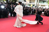 Actress Sonam Kapoor attends the 'Loving' premiere during the 69th annual Cannes Film Festival at the Palais des Festivals on May 16 2016 in Cannes...