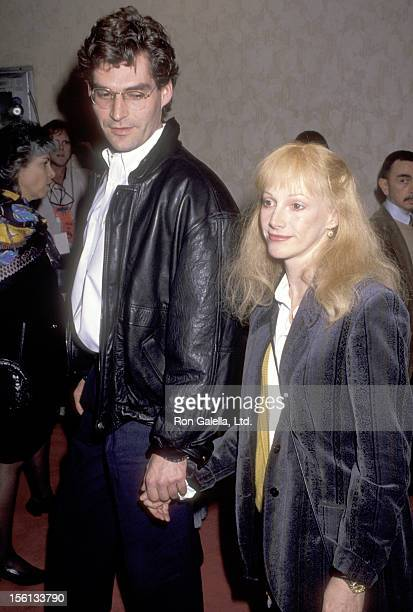 Actress Sondra Locke and boyfriend Scott Cunneen attend the 'Guilty by Suspicion' Westwood Premiere on March 12 1991 at Mann Bruin Theatre in...