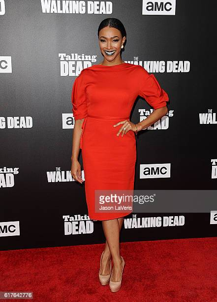 Actress Sonequa Martin attends the live 90minute special edition of 'Talking Dead' at Hollywood Forever on October 23 2016 in Hollywood California