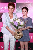 Actress Song Hye Kyo and singer Kenji Wu attend Laneige KBeauty Cocktail Party at Marco Polo Hotel on July 2 2013 in Hong Kong Hong Kong