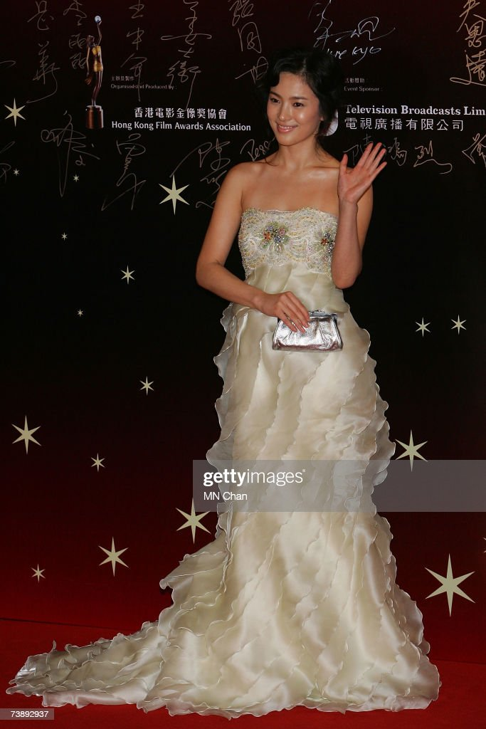 Actress Song Hye Kyo arrives at the 26th Hong Kong Film Awards at the Hong Kong Cultural Centre on April 15, 2007 in Hong Kong, China.