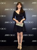 Actress Song Hye Kyo attends commercial activity of the opening of Jimmy Choo at Shin Kong Place on November 14 2014 in Beijing China