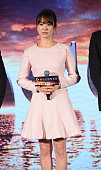 Actress Song Hye Kyo attends press conference of new movie 'The Crossing' on September 21 2014 in Beijing China