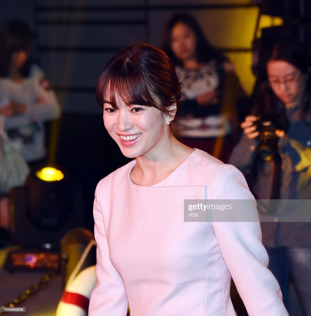 Actress Song Hye Kyo attends press conference of new movie 'The Crossing' on September 21, 2014 in Beijing, China.