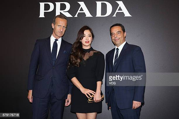Actress Song Hyekyo attends an opening event of Prada on July 22 2016 in Hong Kong China