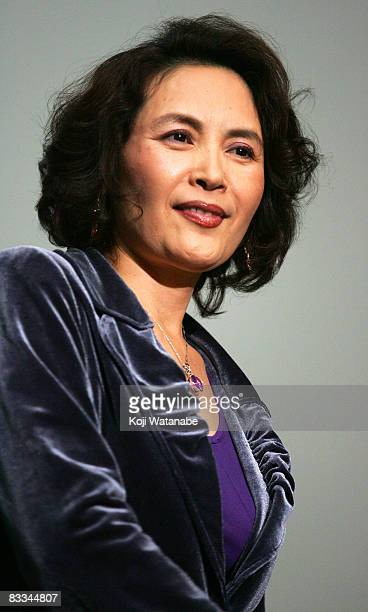 Actress Song XiaoYing attends the 2008 Tokyo China Cinema Week Opening Ceremony at Mediage on October 19 2008 in Tokyo Japan