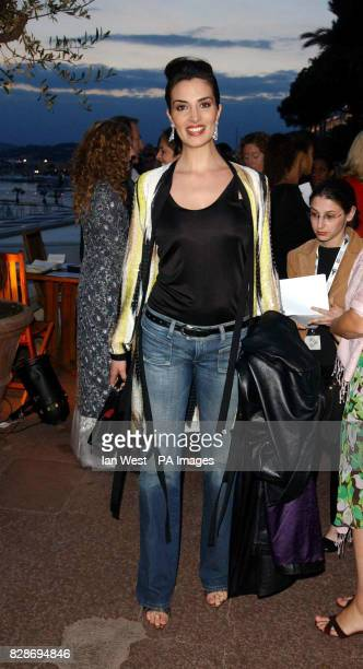Actress Sonia Aquino arriving at the HBO party at the Martinez Beach in Cannes