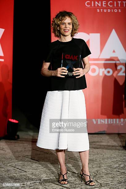 Actress Sonia Bergamasco attends the Ciak D'Oro 2016 awards at Cinecitta on June 8 2016 in Rome Italy