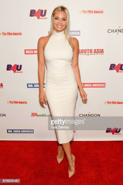 Actress Sonia Rockwell attends the Elite Awards ceremony charity gala for Jagrit at Renaissance Los Angeles Airport Hotel on August 5 2017 in Los...
