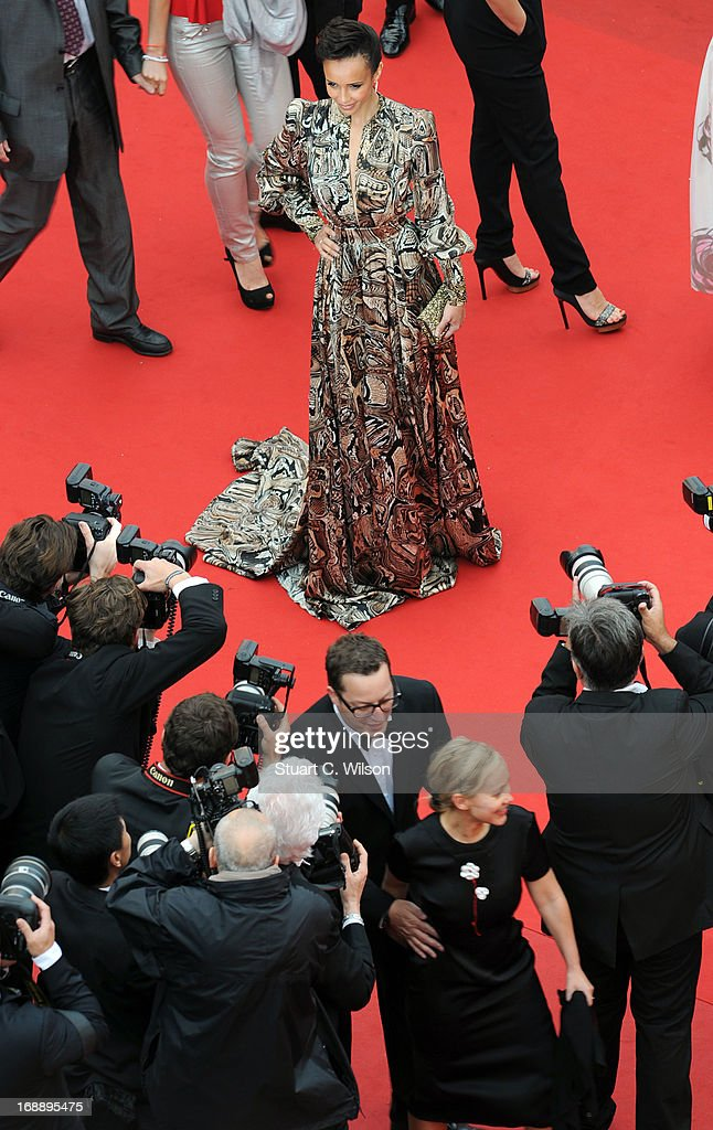 Actress <a gi-track='captionPersonalityLinkClicked' href=/galleries/search?phrase=Sonia+Rolland&family=editorial&specificpeople=224948 ng-click='$event.stopPropagation()'>Sonia Rolland</a> attends the 'Jeune & Jolie' premiere during The 66th Annual Cannes Film Festival at the Palais des Festivals on May 16, 2013 in Cannes, France.