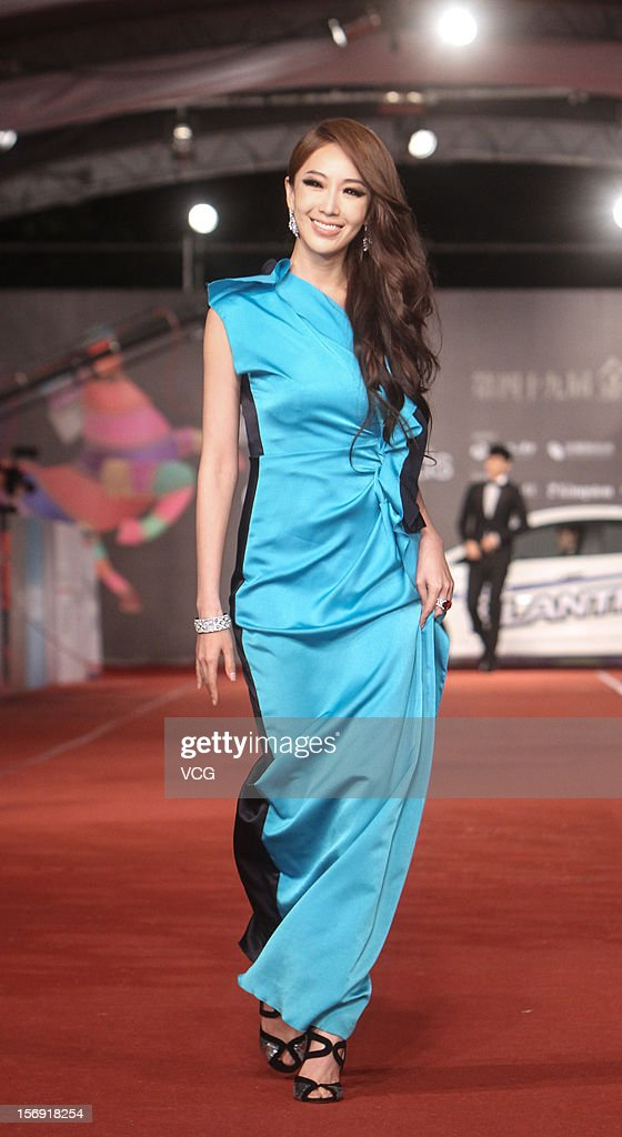 Actress <a gi-track='captionPersonalityLinkClicked' href=/galleries/search?phrase=Sonia+Sui&family=editorial&specificpeople=5964499 ng-click='$event.stopPropagation()'>Sonia Sui</a> arrives at the red carpet of the 49th Golden Horse Awards at the Luodong Cultural Working House on November 24, 2012 in Ilan, Taiwan.
