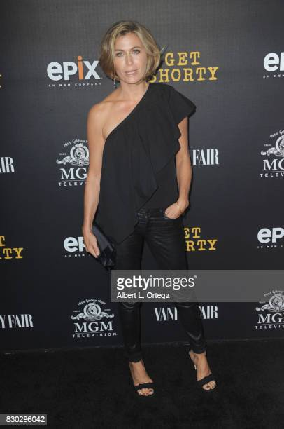 Actress Sonya Walger arrives for the Red Carpet Premiere of EPIX Original Series 'Get Shorty' held at Pacfic Design Center on August 10 2017 in West...