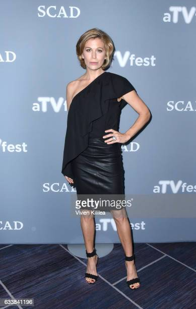 Actress Sonya Walger attends a press junket for 'The Catch' on Day Three of aTVfest 2017 presented by SCAD on February 4 2017 in Atlanta Georgia