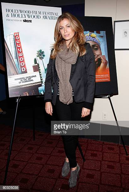Actress Sonya Walger attends Hollywood Film Festival's Ending Violence Against Women In Congo Symposium at ArcLight Cinemas on October 24 2009 in...