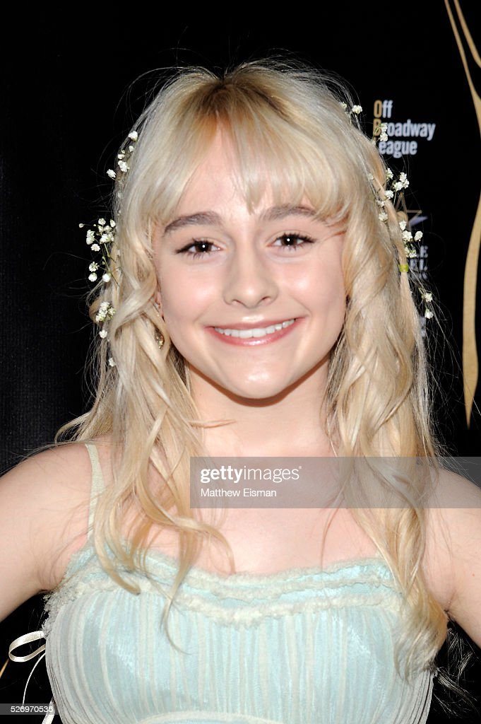 Actress Sophia Anne Caruso arrives at the 31st Annual Lucille Lortel Awards at NYU Skirball Center on May 1, 2016 in New York City.