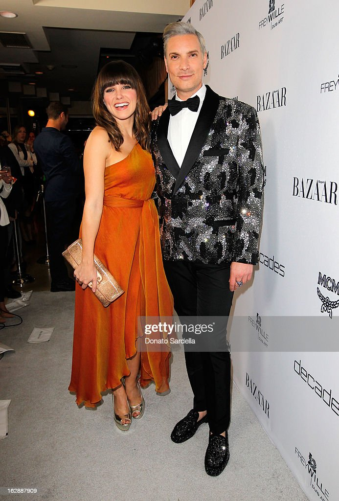 Actress Sophia Bush and Founder of Decades, Cameron Silver attend the Dukes Of Melrose launch hosted by Decades, Harper's BAZAAR, and MCM on February 28, 2013 in Los Angeles, California.