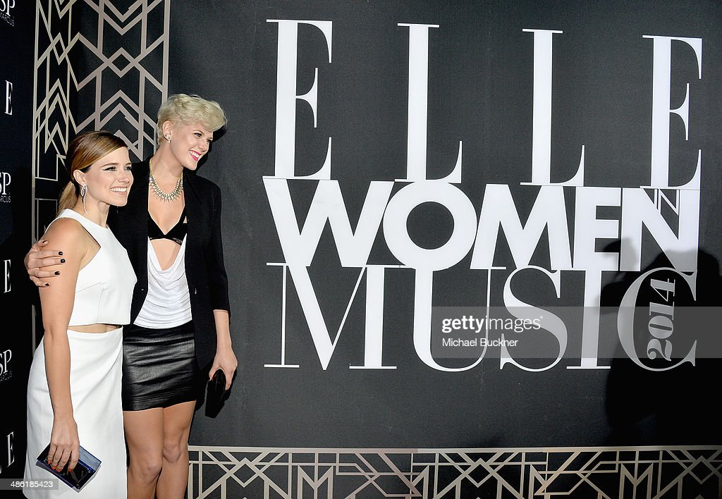 Actress Sophia Bush and musician Betty Who attend the 5th Annual ELLE Women in Music Celebration presented by CUSP by Neiman Marcus. Hosted by ELLE Editor-in-Chief Robbie Myers with performances by Sarah McLachlan, Angel Haze and Betty Who, with special DJ set by Rumer Willis at Avalon on April 22, 2014 in Hollywood, California.