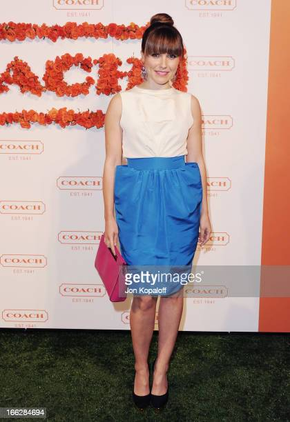 Actress Sophia Bush arrives at the 3rd Annual Coach Evening To Benefit Children's Defense Fund at Bad Robot on April 10 2013 in Santa Monica...