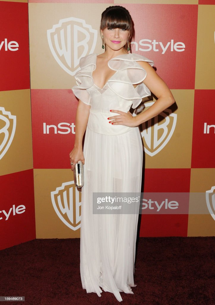 Actress Sophia Bush arrives at the InStyle And Warner Bros Golden Globe Party at The Beverly Hilton Hotel on January 13 2013 in Beverly Hills...