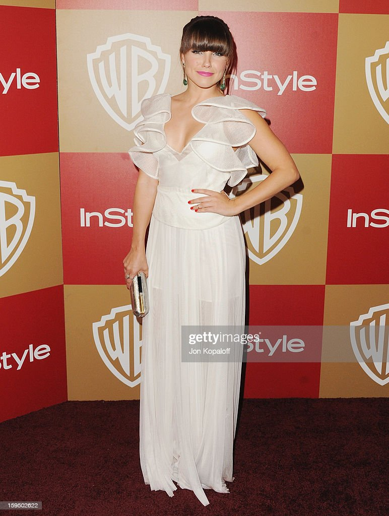 Actress Sophia Bush arrives at the InStyle And Warner Bros. Golden Globe Party at The Beverly Hilton Hotel on January 13, 2013 in Beverly Hills, California.
