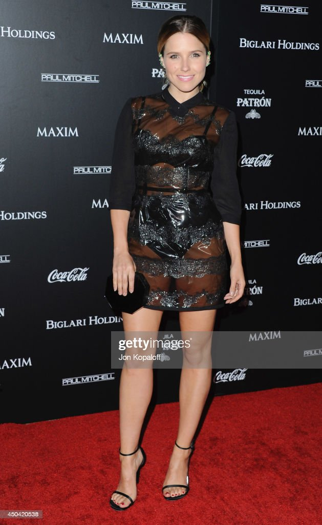Actress <a gi-track='captionPersonalityLinkClicked' href=/galleries/search?phrase=Sophia+Bush&family=editorial&specificpeople=203180 ng-click='$event.stopPropagation()'>Sophia Bush</a> arrives at the MAXIM Hot 100 Celebration Event at Pacific Design Center on June 10, 2014 in West Hollywood, California.