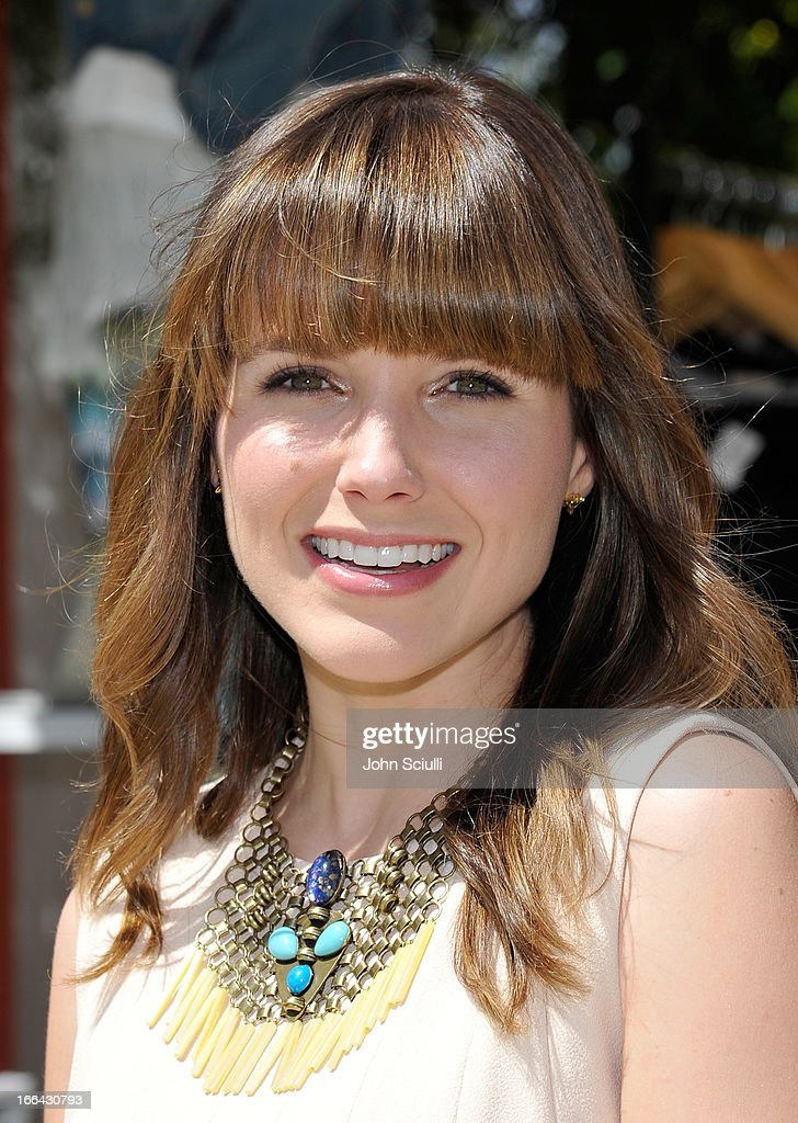 Actress Sophia Bush attends Harper's BAZAAR Coachella poolside fete at the Parker Palm Springs on April 12 2013 in Palm Springs California