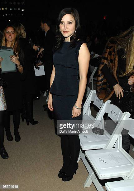 Actress Sophia Bush attends Monique Lhuillier Fall 2010 during MercedesBenz Fashion Week at Bryant Park on February 15 2010 in New York City