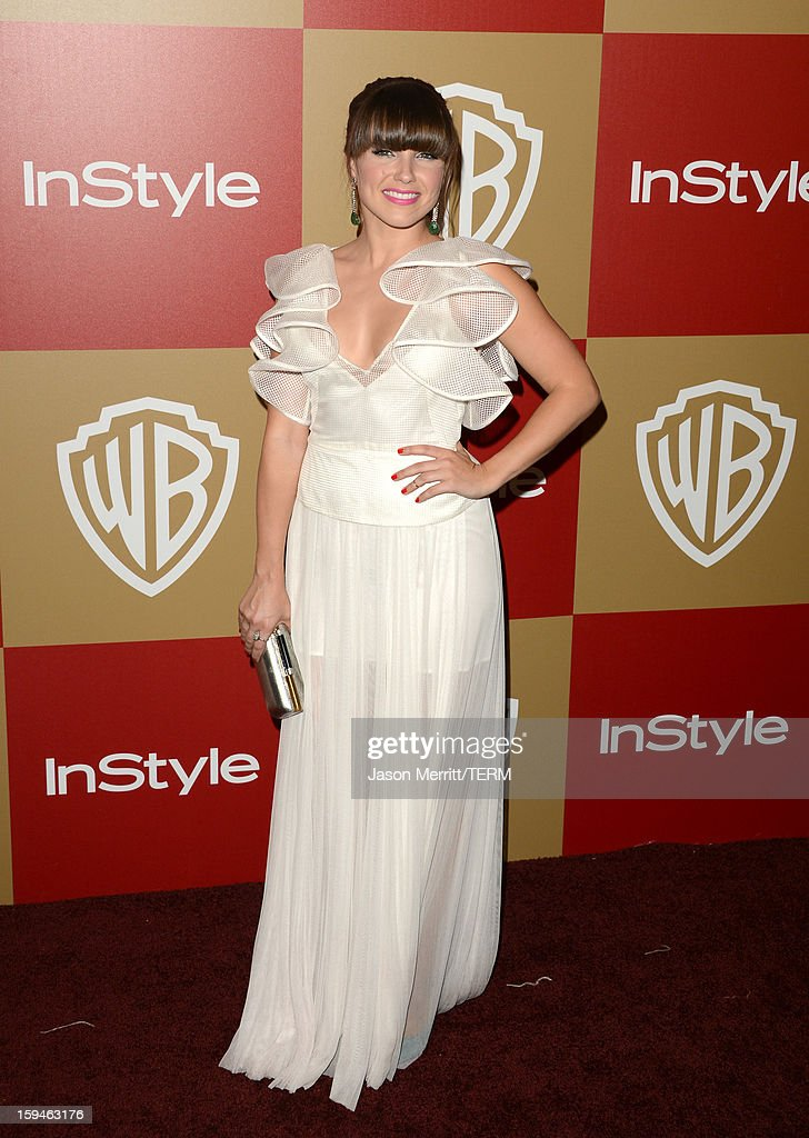 Actress <a gi-track='captionPersonalityLinkClicked' href=/galleries/search?phrase=Sophia+Bush&family=editorial&specificpeople=203180 ng-click='$event.stopPropagation()'>Sophia Bush</a> attends the 14th Annual Warner Bros. And InStyle Golden Globe Awards After Party held at the Oasis Courtyard at the Beverly Hilton Hotel on January 13, 2013 in Beverly Hills, California.