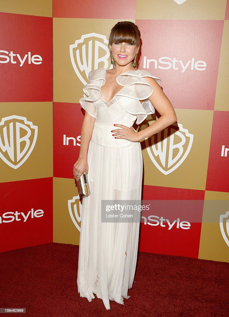 Actress Sophia Bush attends the 2013 InStyle and Warner Bros 70th Annual Golden Globe Awards PostParty held at the Oasis Courtyard in The Beverly...
