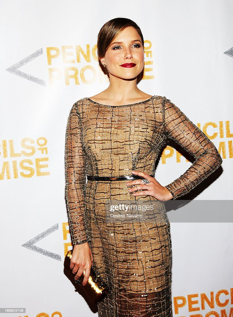 Actress <a gi-track='captionPersonalityLinkClicked' href=/galleries/search?phrase=Sophia+Bush&family=editorial&specificpeople=203180 ng-click='$event.stopPropagation()'>Sophia Bush</a> attends the 3rd annual Pencils of Promise Gala at Guastavino's on October 24, 2013 in New York City.