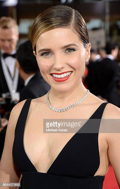 Actress Sophia Bush attends the 73rd Annual Golden Globe Awards held at the Beverly Hilton Hotel on January 10 2016 in Beverly Hills California