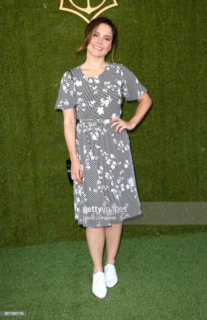 Actress Sophia Bush attends the 8th Annual Veuve Clicquot Polo Classic at Will Rogers State Historic Park on October 14, 2017 in Pacific Palisades, California.