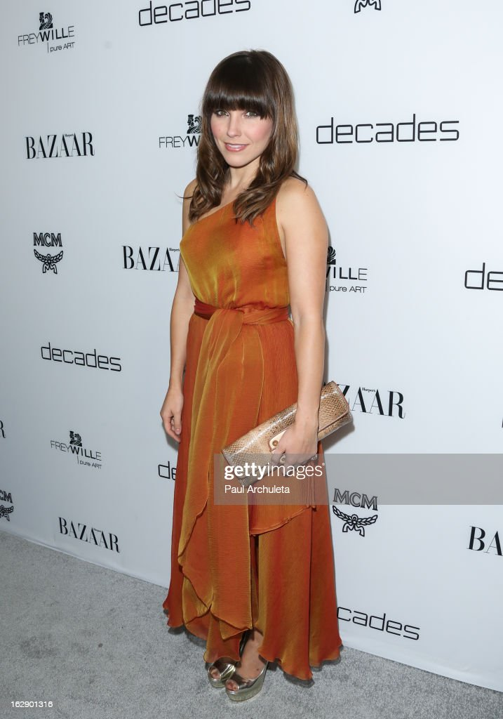 Actress Sophia Bush attends the Harper's BAZAAR celebration for the new Bravo series 'Dukes of Melrose' at The Terrace at Sunset Tower on February 28, 2013 in West Hollywood, California.