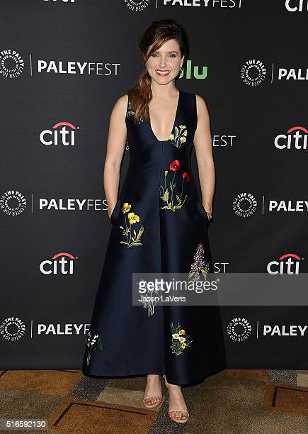 Actress Sophia Bush attends the salute to Dick Wolf at the 33rd annual PaleyFest at Dolby Theatre on March 19 2016 in Hollywood California