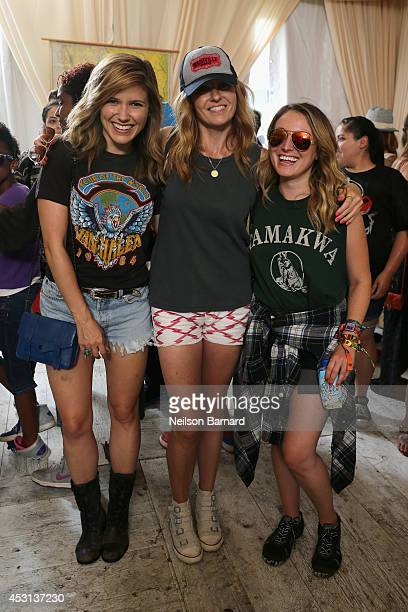 Actress Sophia Bush Connie Britton and guest at the Samsung Galaxy Artist Lounge at Lollapalooza at Grant Park on August 3 2014 in Chicago Illinois