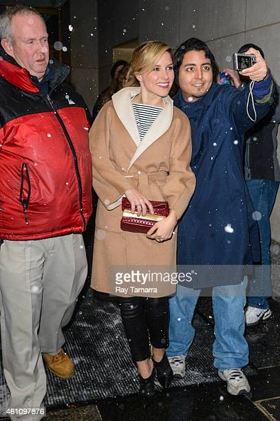 Actress Sophia Bush leaves the 'Today Show' taping at the NBC Rockefeller Center Studios on January 6 2015 in New York City