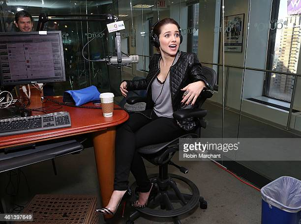 Actress Sophia Bush visits 'The Morning Jolt with Larry Flick' on SiriusXM OutQ at SiriusXM Studios on January 8 2014 in New York City