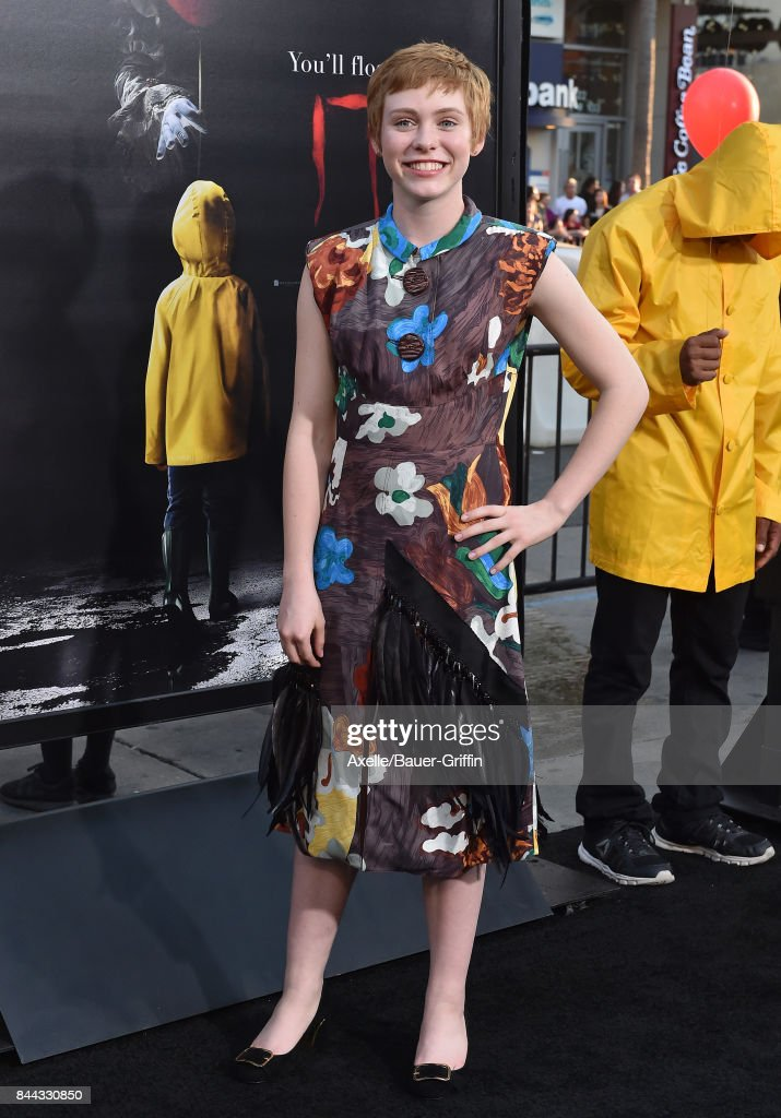 Actress Sophia Lillis arrives at the premiere of 'It' at TCL Chinese Theatre on September 5, 2017 in Hollywood, California.
