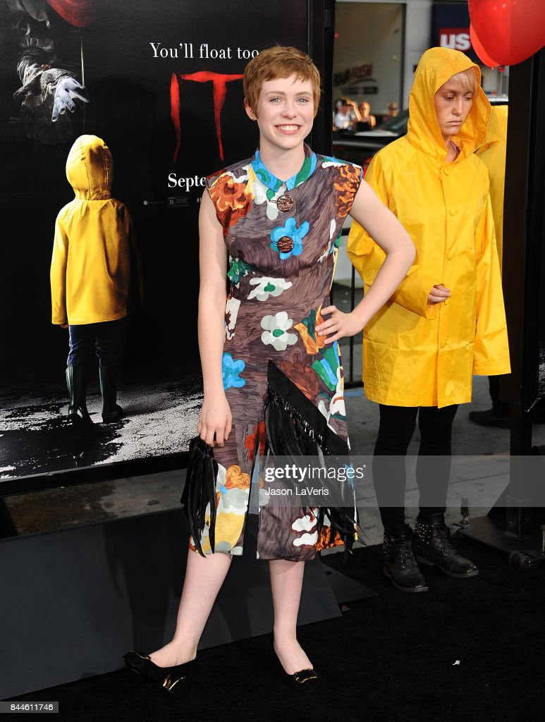 Actress Sophia Lillis attends the premiere of 'It' at TCL Chinese Theatre on September 5, 2017 in Hollywood, California.