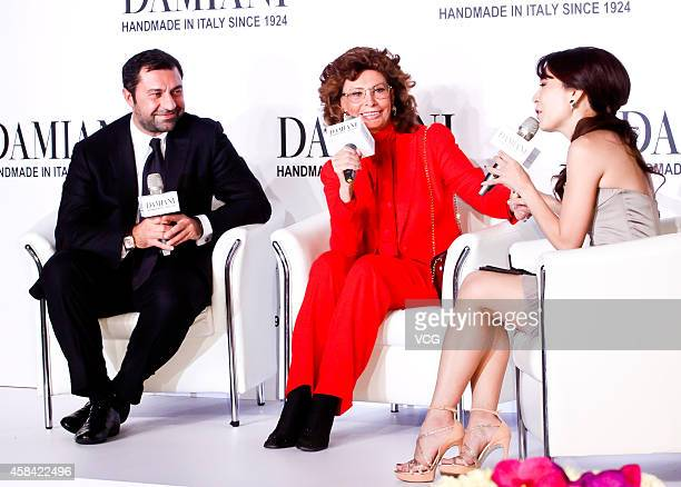 Actress Sophia Loren attends Damiani promotional event at a hotel on November 4 2014 in Taipei Taiwan of China