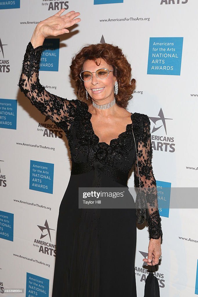 Actress Sophia Loren attends the 2015 National Arts Awards at Cipriani 42nd Street on October 19, 2015 in New York City.
