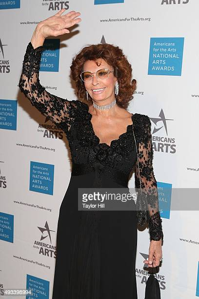 Actress Sophia Loren attends the 2015 National Arts Awards at Cipriani 42nd Street on October 19 2015 in New York City