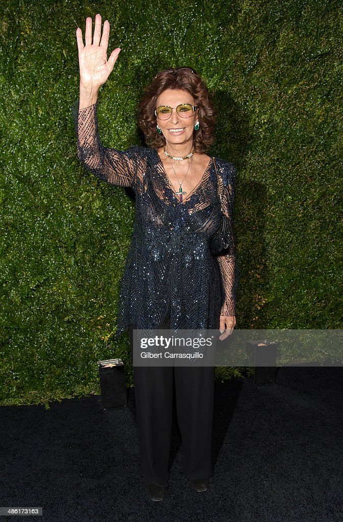 Actress <a gi-track='captionPersonalityLinkClicked' href=/galleries/search?phrase=Sophia+Loren&family=editorial&specificpeople=94097 ng-click='$event.stopPropagation()'>Sophia Loren</a> attends the 9th annual Chanel Artists Dinner during the 2014 Tribeca Film Festival at Balthazar on April 22, 2014 in New York, New York.