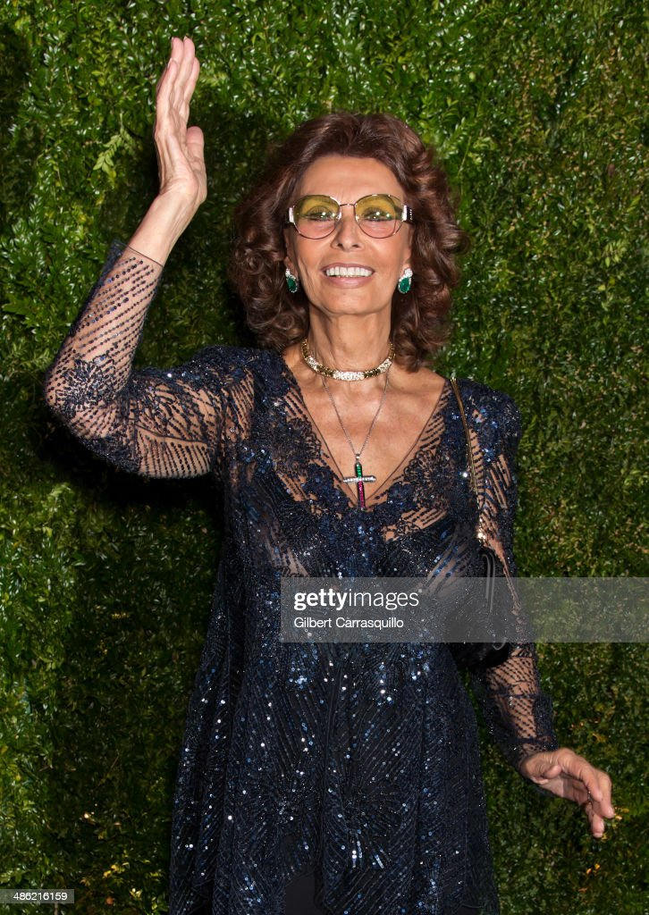 Actress Sophia Loren attends the 9th annual Chanel Artists Dinner during the 2014 Tribeca Film Festival at Balthazar on April 22, 2014 in New York, New York.