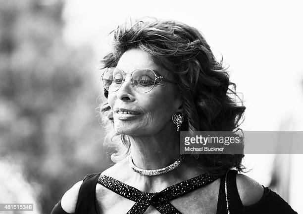 Actress Sophia Loren attends the Premiere Of DIRECTV's 'Dark Places' at Harmony Gold Theatre on July 21 2015 in Los Angeles California