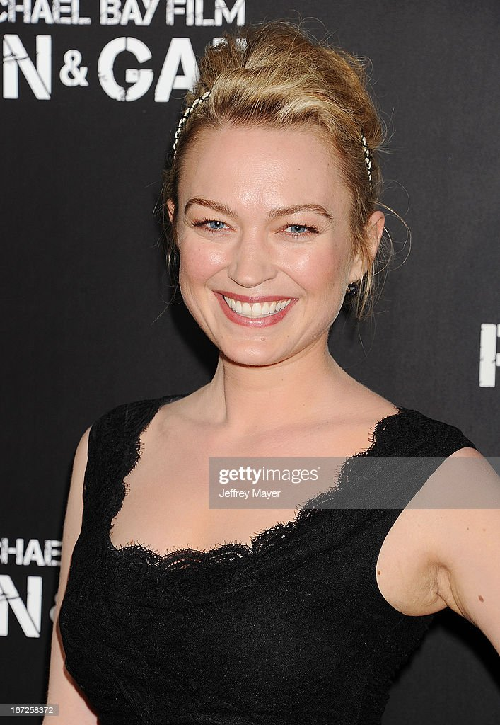 Actress Sophia Myles attends the 'Pain & Gain' premiere held at TCL Chinese Theatre on April 22, 2013 in Hollywood, California.