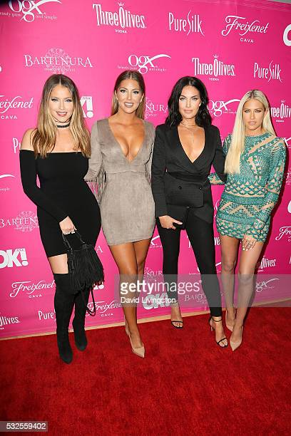 Actress Sophia Pierson Olivia Pierson Natalie Halcro and Barbie Blank arrive at the OK Magazine's So Sexy LA at the Skybar at Mondrian on May 18 2016...