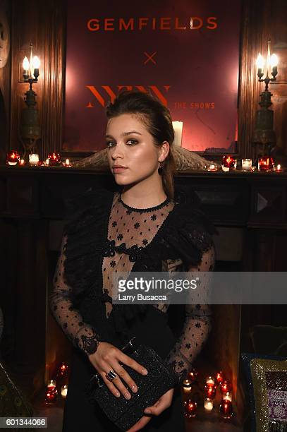 Actress Sophie Cookson attends the Gemfields In Conversation Cocktail Party during New York Fashion Week The Shows September 2016 at The Jane Hotel...