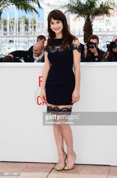 Actress Sophie Desmarais attends the photocall for 'Sarah Prefere La Course' during The 66th Annual Cannes Film Festival at Palais des Festivals on...
